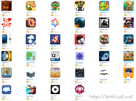 Giveaway - Android Applications worth USD 105 for FREE