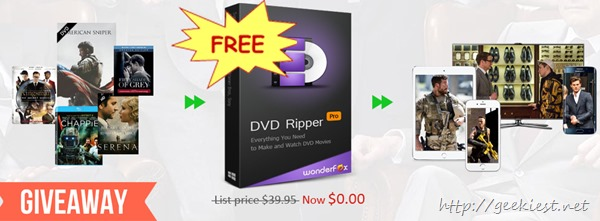 Giveaway - WonderFox DVD Ripper Pro worth USD 39.95 for FREE