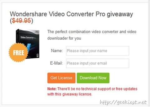 Giveaway - Wondershare Video Converter Pro