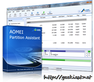Giveaway AOMEI Partition Assistant Pro