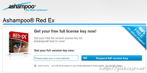 Giveaway Ashampoo Red Ex full version license