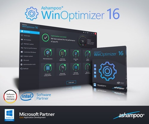 Giveaway Ashampoo Winoptimizer 16 full version license free