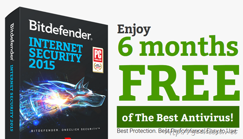 Giveaway Bitdefender Internet Security 2015 for 6 months