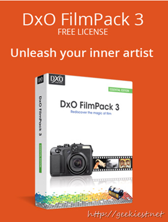 Giveaway DxO FilmPack 3 Essential Edition