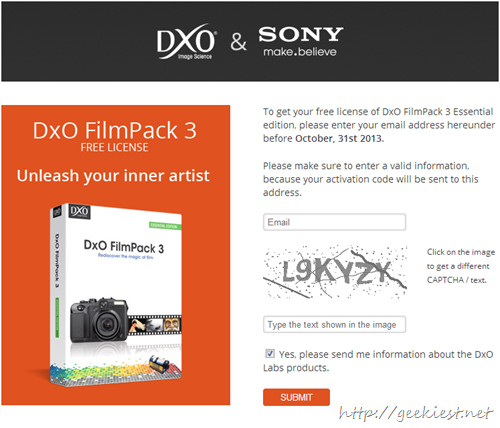 Giveaway DxO FilmPack 3 Essential Edition full version