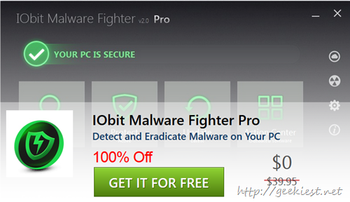 Giveaway IObit Malware Fighter Pro for FREE