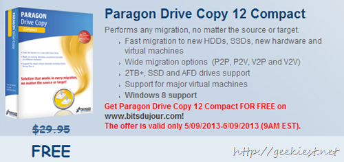Giveaway Paragon Drive Copy 12 Compact license free