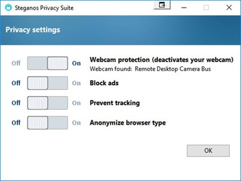 Giveaway Steganos Privacy Suite 20 privacy settings
