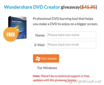 Giveaway Wondershare DVD Creator for all