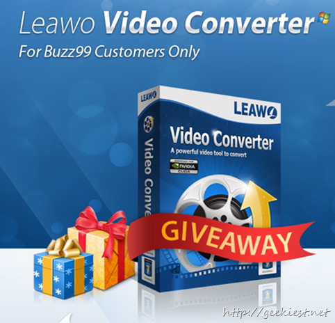 Giveaway free Leawo Video Converter 5 full version license