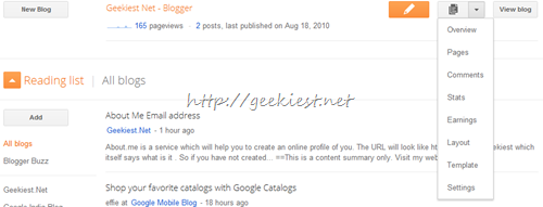 Go to settings of the blog which you need as PDF