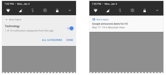 Google Android O Notification Controls