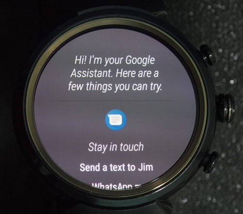 Google Assistant on Android Wear
