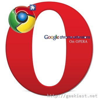 Google CHrome Extensions on Opera browser