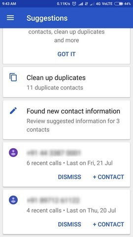 Google Contacts App Suggestions