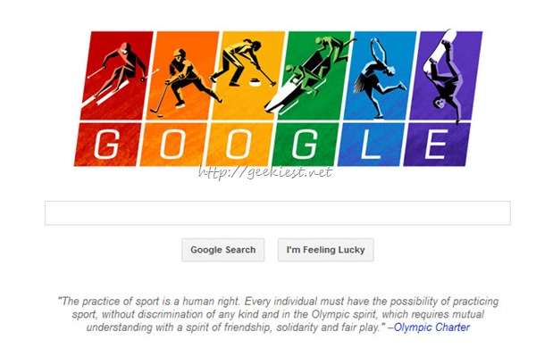 Google Home page Changed–Winter Olympics