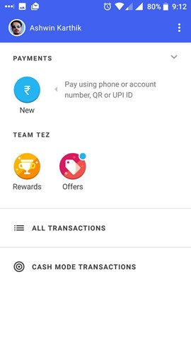 Google Tez rewards and offers