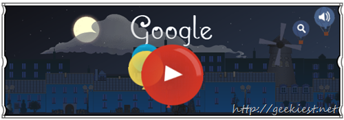 Google celebrates Claude Debussy birthday with an animated doodle