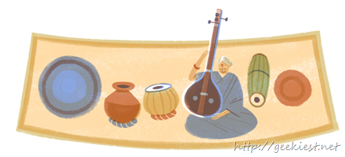 Google celebrates birthday of M. S. Subbulakshmi with a doodle