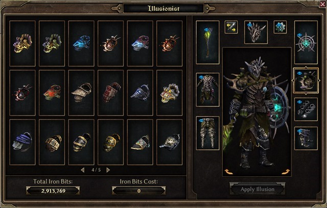 Grim Dawn  Illusionist GUI