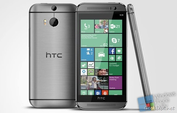 HTC One M8 Windows Phone Mockup