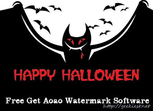 Halloween Giveaway - Aoao Watermark for Photo