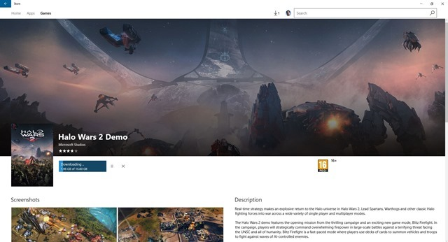 Halo Wars 2 Demo download size