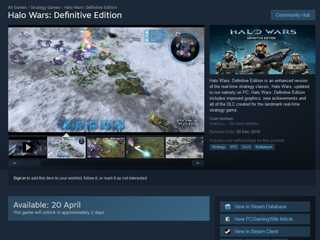 Halo Wars Definitive Edition Steam Version