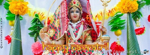 Happy Navaratri Facebook cover photo 2
