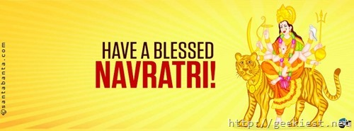 Happy Navaratri Facebook cover photo 4