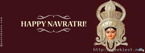 Happy Navaratri Facebook cover photo 5
