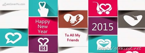 Happy New Year Facebook covers 2015 - 2