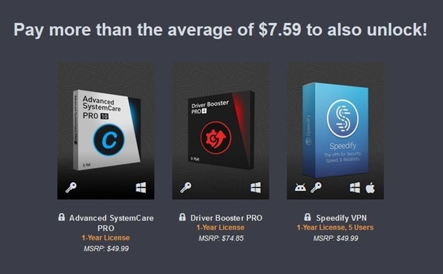 Happy PC Software Bundle Humble 2