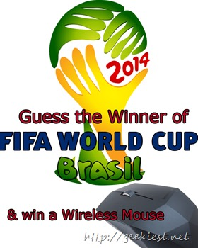 Hardware Giveaway – Guess the FIFA World Cup 2014 winner and get a Lenovo Cordlless Mouse N50