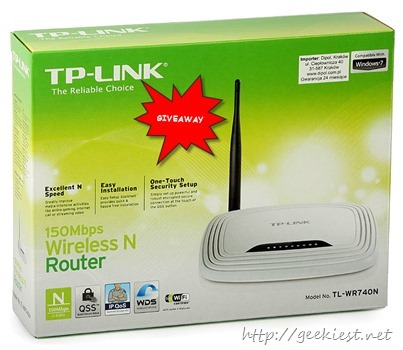 Hardware Review and Giveaway - 150Mbps Wireless N Router TL-WR740N