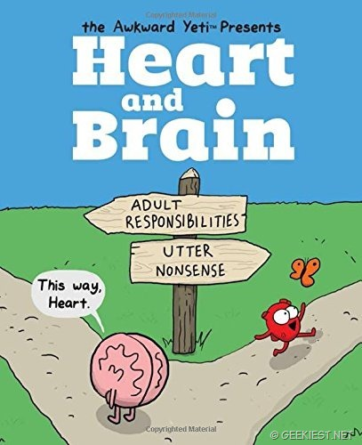 Heart and Brain- An Awkward Yeti Collection is available in India