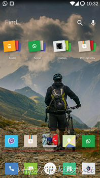 Home screen and smart folders