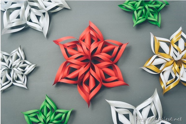 How to create 3D Paper Snowflake