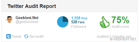 How to find number of fake followers you have on Twitter