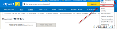 How to get your lost Flipkart invoice again - 1