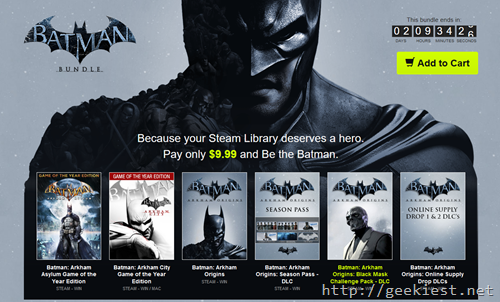 Huge discount sale on Batman series