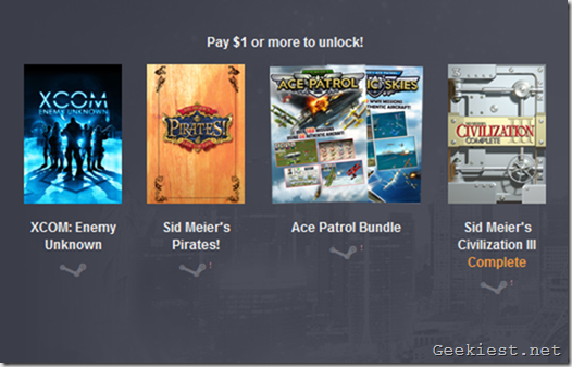 Humble Firaxis Bundle $1 tier