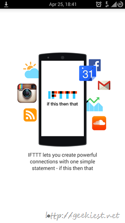 IFTTT Android application receipes and screenshots 1
