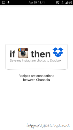 IFTTT Android application receipes and screenshots 2
