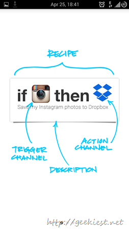IFTTT Android application receipes and screenshots 3