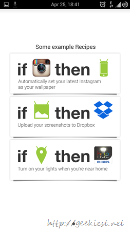 IFTTT Android application receipes and screenshots 5