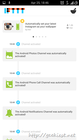 IFTTT Android application receipes and screenshots 6