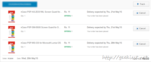 INR 11 for screen guards