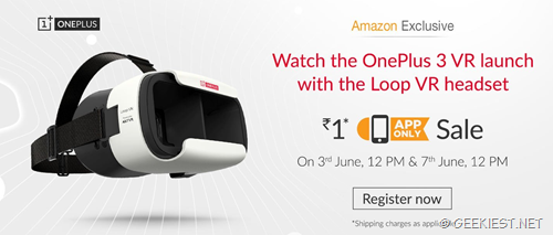 INR 1 Oneplus loop Vr headset