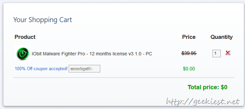 IObit Malware Fighter Pro - 12 months license v3.1.0 - PC